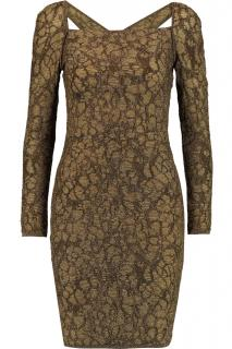 M Missoni Gold-Brown Cutout Dress
