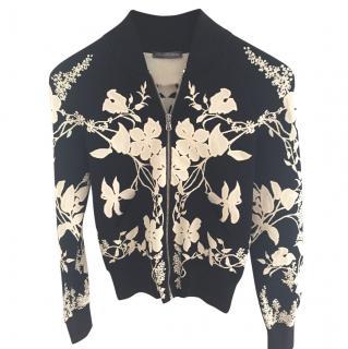 Alexander Mcqueen knitted bomber jacket