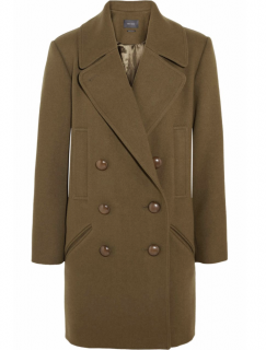 Isabel Marant army green Ziggy wool-blend brushed-twill coat