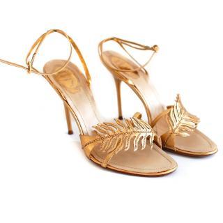Rene Caovilla Gold Sandals