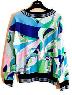 NEW EMILIO PUCCI Printed Velvet Sweatshirt