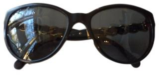 Chanel Sunglasses with Gold Chain detail