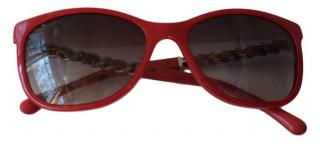 Chanel Red Sunglases