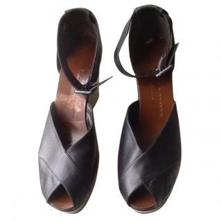 Robert Clergerie black platform shoes