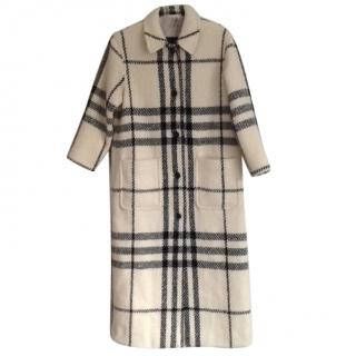 Burberry wool check coat