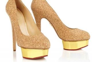 Charlotte Olympia Beige Nude Cork Pumps Shoes UK6/39