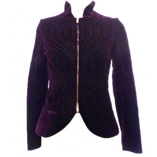 GUCCI Purple Velvet Quilted Jacket