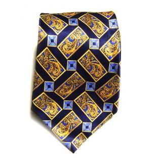 Lanvin blue silk tie