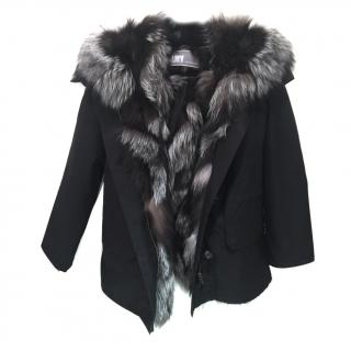Yves Salomon Army Parka with Natural Raccoon fur lining