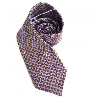 Brioni Geometric Patterned Silk Tie