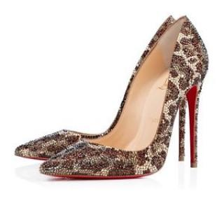 Christian Louboutin So Kate Leopard Strass 38