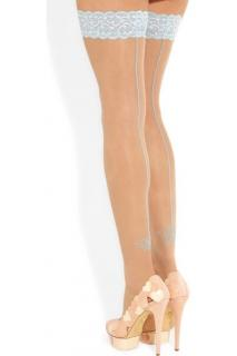 Charlotte Olympia Spider Web Something Blue Hold Ups/Suspender Tights