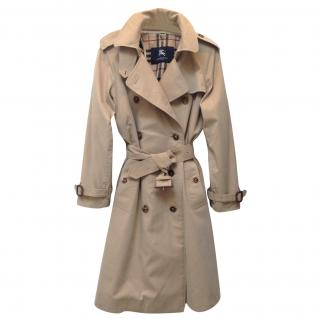 Burberry cotton trench coat with wool liner