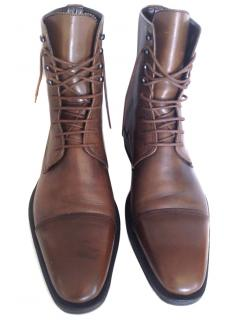 Gucci men's brown lace up boots