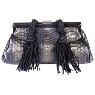 Emanuel Ungaro clutch pyhton leather