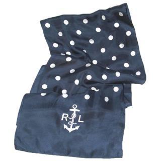 Ralph Lauren navy silk scarf