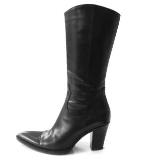 Russell & Bromley black Hi-Roller boots
