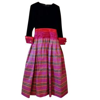 Akris Plaid-Skirt A-line Dress