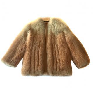 Fox Fur Gradient Jacket in Great Condition.