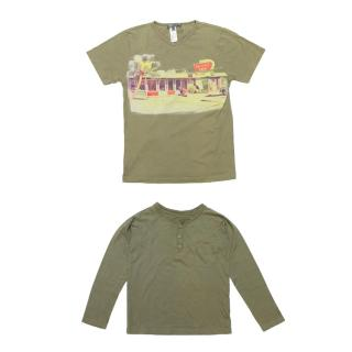 Bonpoint Boy Set of Two Khaki Green T-Shirts