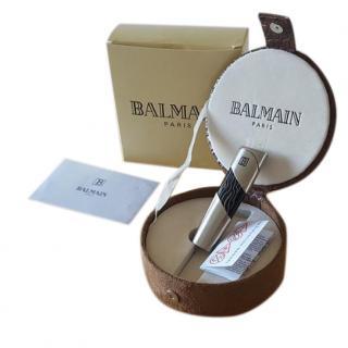 Balmain Silver Lighter and Case