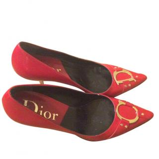 Red Christian Dior shoes
