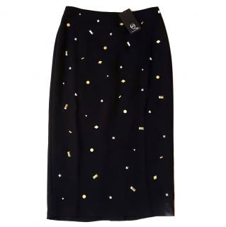 Alexander McQueen McQ gold detailed skirt
