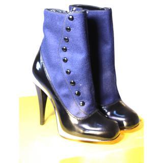 Fendi Runway 2014 (Lagerfeld) Victorian Booties