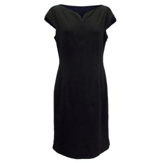 Elie Tahari Black Dress with Capped Sleeves