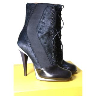 BNIB Fendi Runway 2014 (Lagerfeld) Victorian Booties