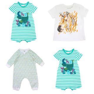 Catimini, Ikks & Petit Bateau Baby Grows & T-shirt Set
