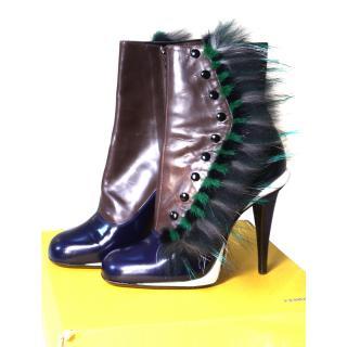 Fendi Runway 2014 (Lagerfeld) Victorian Booties eu 39