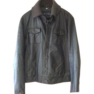Armani Leather Men's Jacket