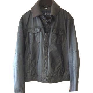 Armani Leather Men's Jacket