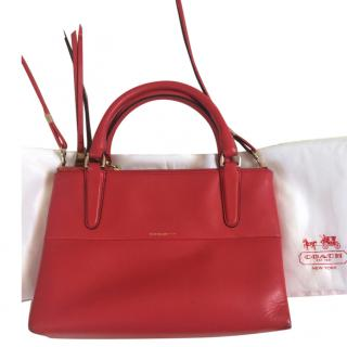 Coach Red Leather Mini Messenger Bag