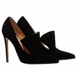 Bionda Castana - Black Calf Suede Heels