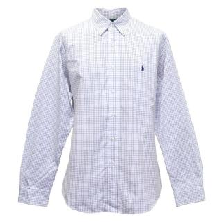 Polo by Ralph Lauren White Shirt with Blue Checks