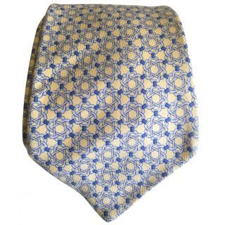 Hermes Geometric Pattern Tie