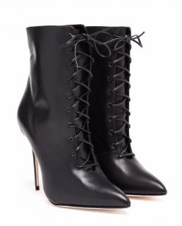Manolo Blahnik Leather Bordin Lace-up Boots