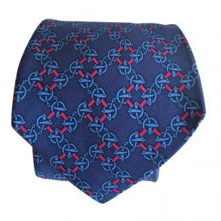 Hermes Bridle Bit Silk Tie