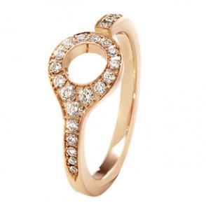 Dune Ring - 18 kt. Rose Gold with Cinnamon Diamonds (RPP �925)