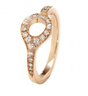 Dune Ring - 18 kt. Rose Gold with Cinnamon Diamonds (RPP �925)