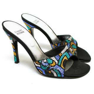 Stuart Weitzman Embellished Heeled Sandals