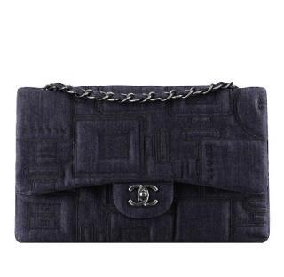 Chanel Embroidered Denim Flap Bag