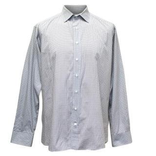 Etro 42 Black & White Diamond Print Shirt
