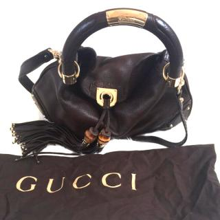 Gucci Dark Brown Leather Indy Bag