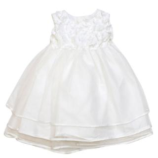 Heritage Girls Monica White Floral & Pearl Dress