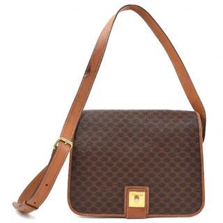 Celine Shoulder Bag Browns Macadam PVC 10268
