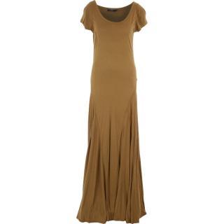 RALPH LAUREN Camel Trapeze Maxi Dress