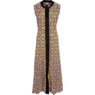 Jonathan Saunders Peach & Yellow Crochet Gown